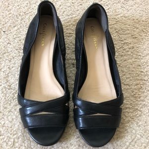 NEW ⭐️ Cole Haan flats open toed black